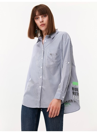 Twist Gömlek Mavi